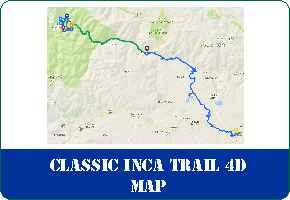 Classic Inca Trail 4 Days to Machu Picchu Map