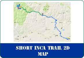 Short Inca Trail 2 Days to Machu Picchu Map