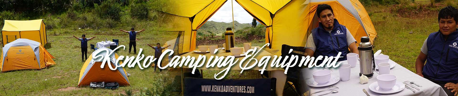 Superior Camping Equipment of  Kenko Adventures for Inca Trail and Treks