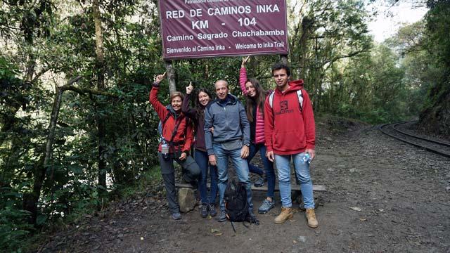 One Day Inca Trail - Km 104  start of trek