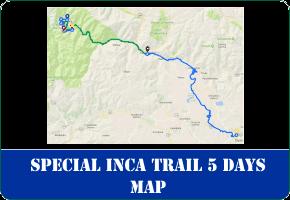 Special Inca Trail 5 Days to Machu Picchu Map