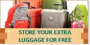 Guarde su equipaje extra con nosotros