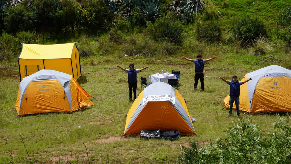 Staff and Camping Equipment for Inca Trail and Treks of Kenko Adventures