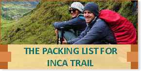 The Packint List for Inca Trail